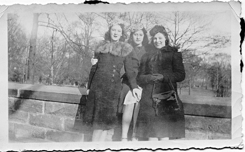 My mother and her friends, c. 1947