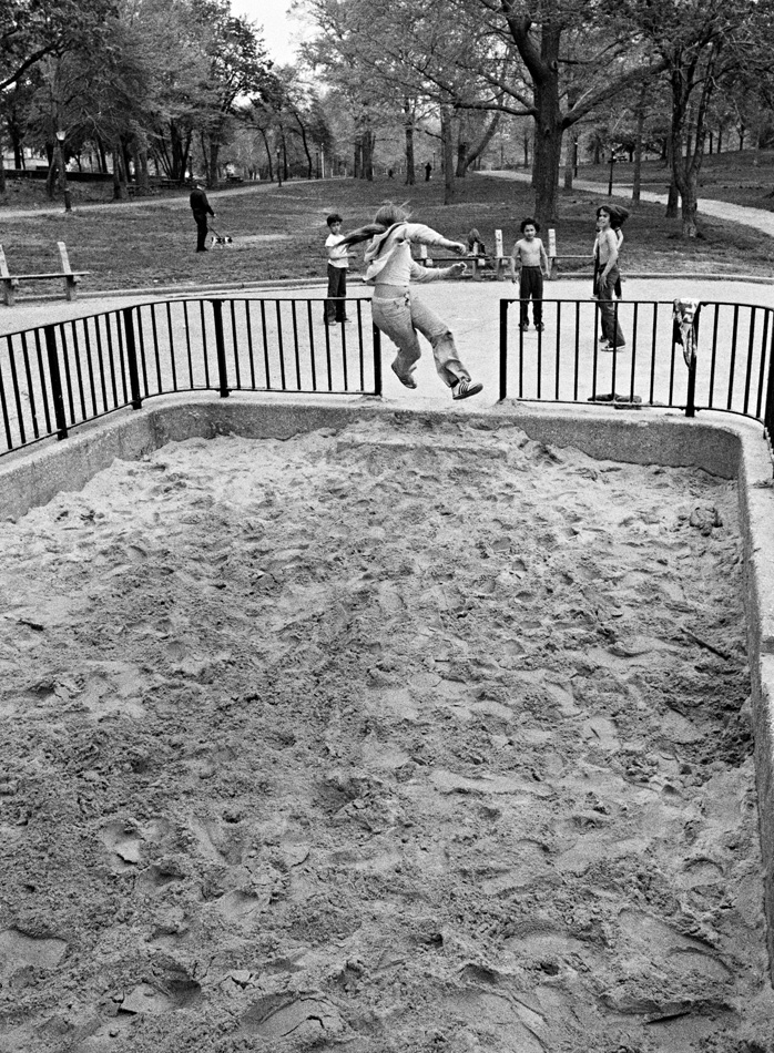 Kids in the sandbox, 1978 by Larry Racioppo