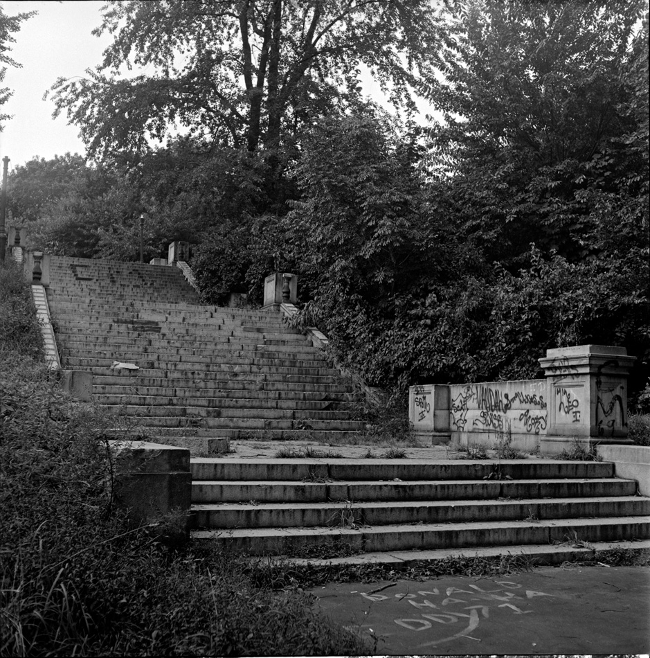 Old stairs, 1972 by Larry Racioppo