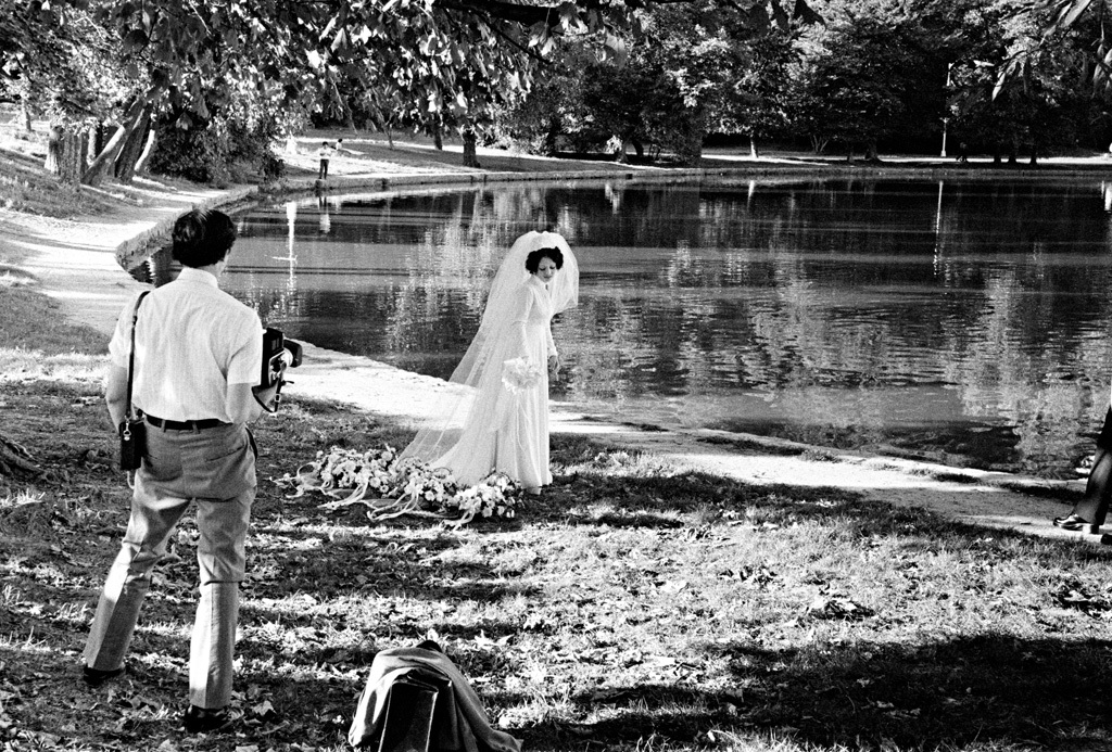 Bridal portrait by the Lake, 1974 by Larry Racioppo