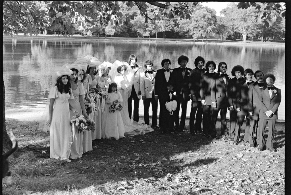 Bridal party by the Lake, 1974 by Larry Racioppo