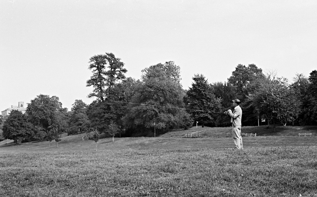 Kite Flyer in the Meadow, 1975 by Larry Racioppo