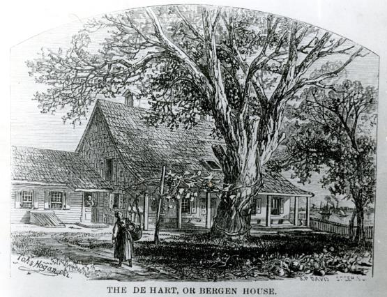 Drawing of Bergen House