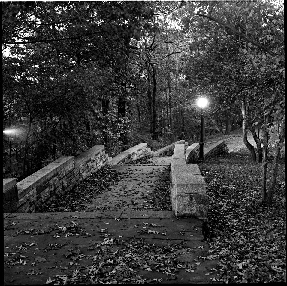 Stairs at Dusk, 1974 by Larry Racioppo