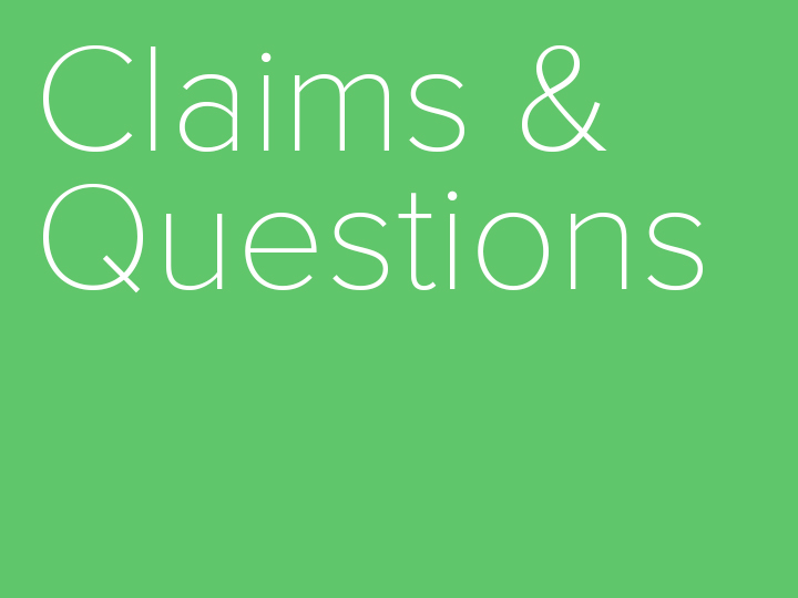 Claim and counter claim