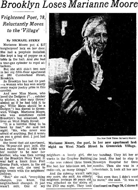 Marianne Moore Article