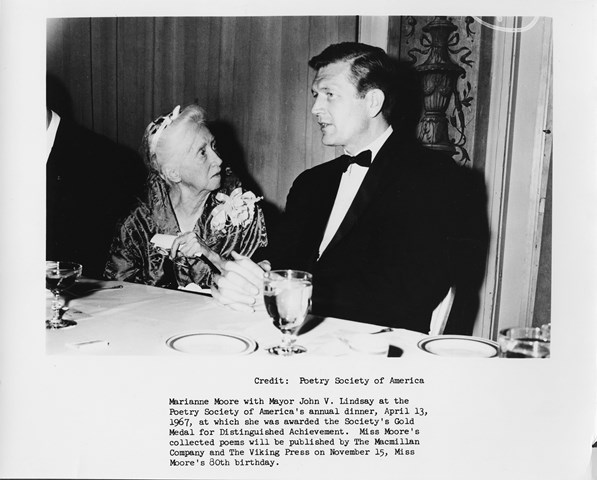 Marianne Moore with Mayor Lindsay
