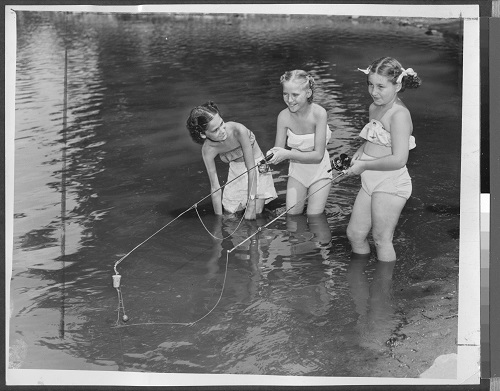 How to Keep Cool on a Warm day. 1950. The Brooklyn Collection, Brooklyn Public Library.