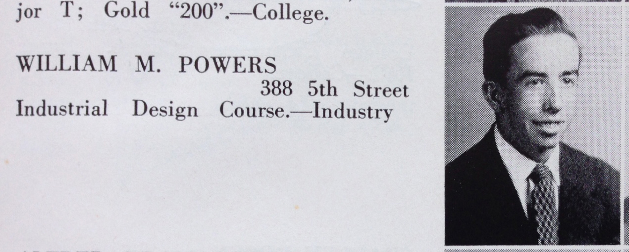William Powers' graduation photo in the 1949 Blueprint