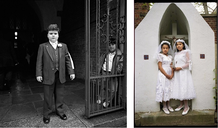 Communion children, 1983 and 1997 by Larry Racioppo