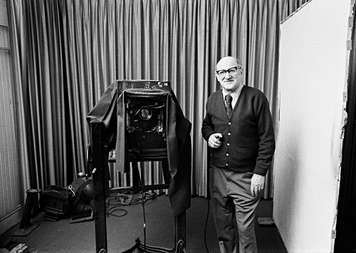 Mr. Gabriel with his camera, 1980
