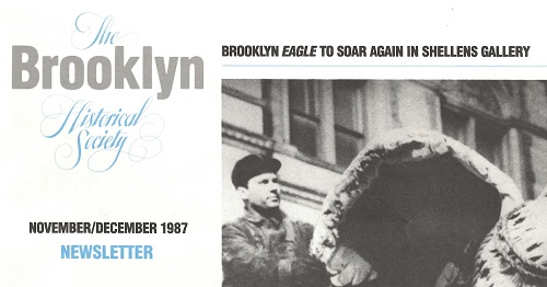 Brooklyn Historical Society newsletter, 1987