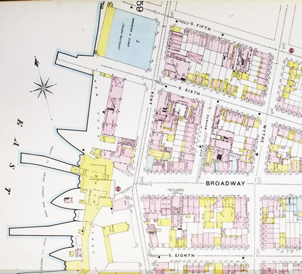 plate from 1887 map of Brooklyn