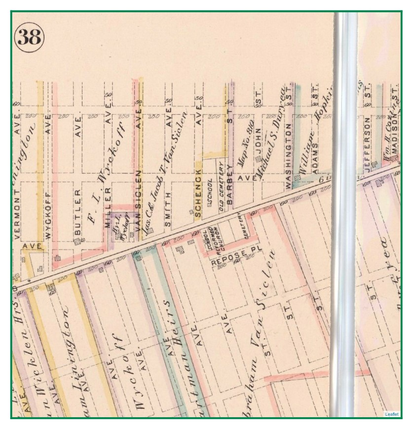 1886 Map of the old cemetery
