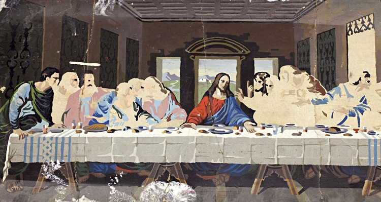 Last Supper paint-by-numbers painting, 2018