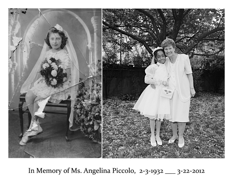 Angie and First Communion girl, 21st Street, Brooklyn, 1997