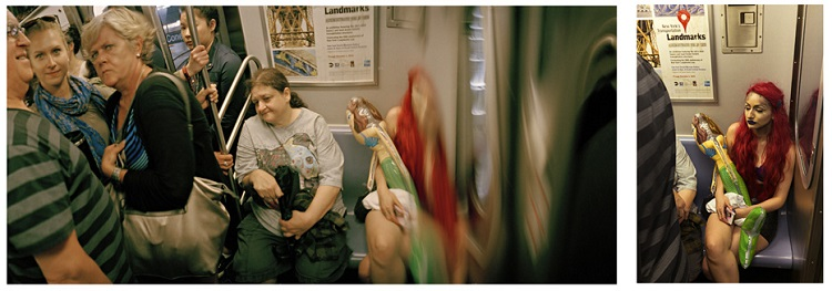 Mermaid on the subway, 2015