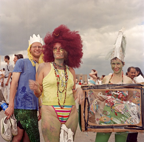 Red wigged mermaid and friends, 1998