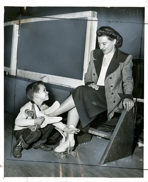 Midge Brasuhn and son Billy, age 5