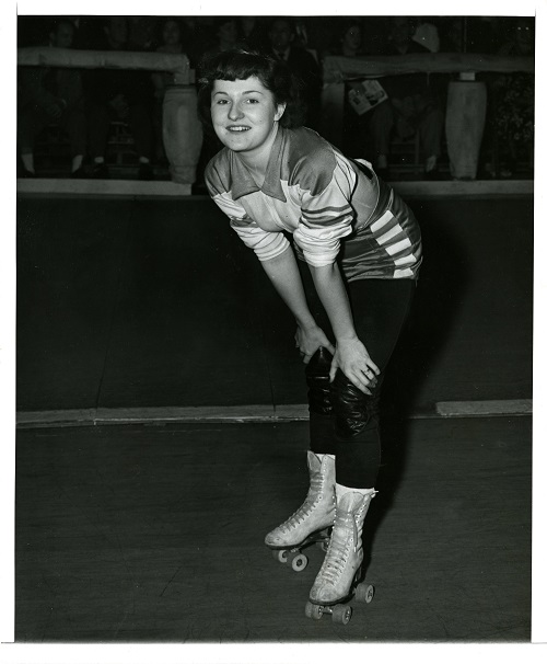Roller derby player Liza Kruck