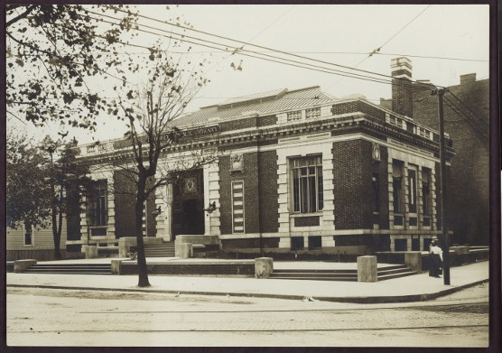Exterior of the Dekalb branch of the Brooklyn Public Library