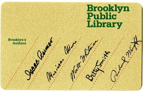 Brooklyn Public Library Card with Asimov's signature