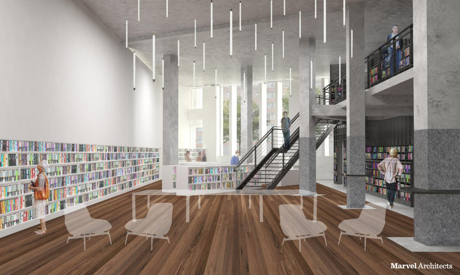 Proposed Design of Brooklyn Heights Library Adult Reading Room