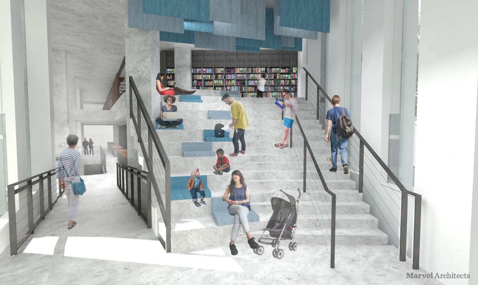 Proposed Design of Brooklyn Heights Library Amphitheater