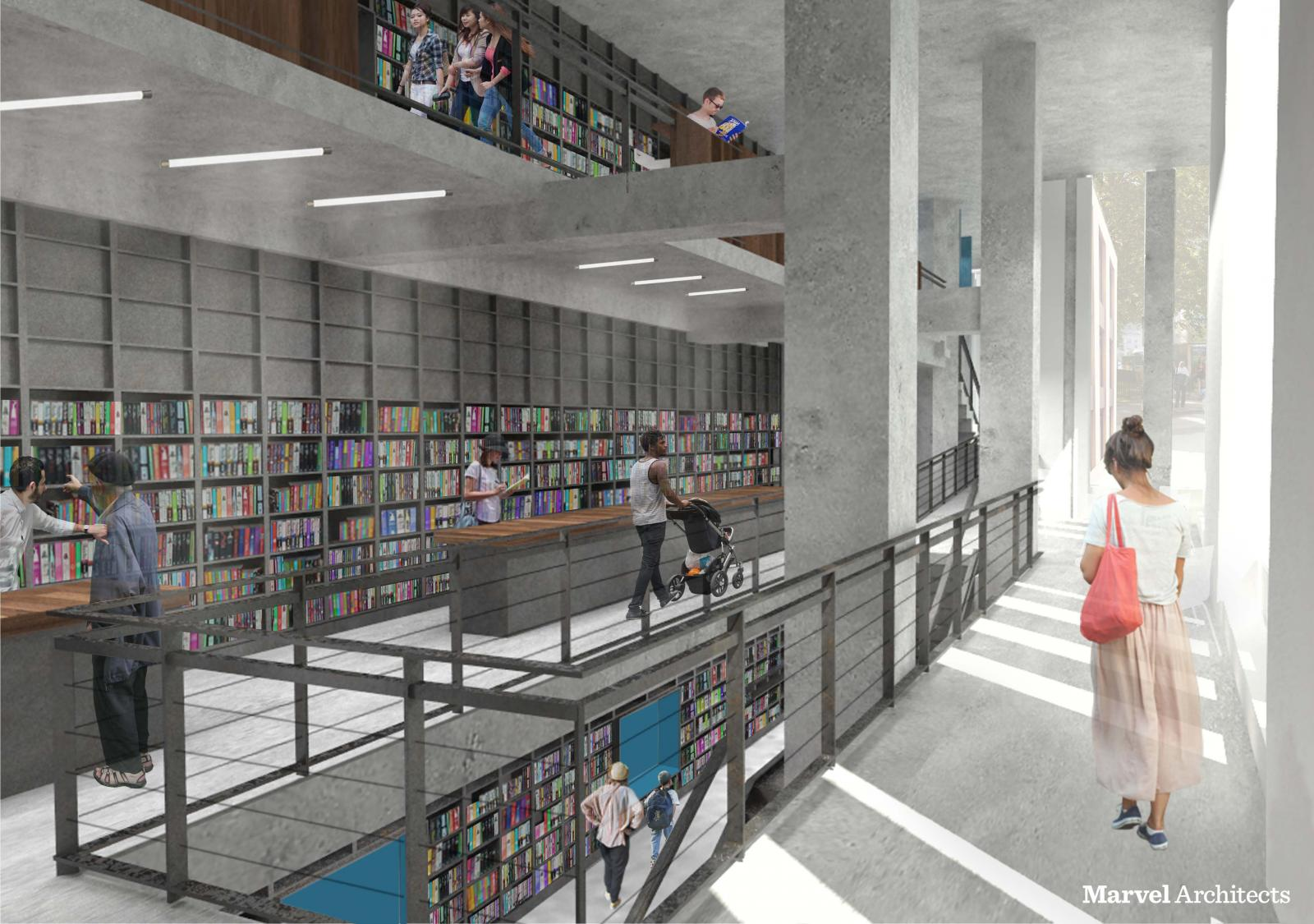 Proposed Design of Brooklyn Heights Library Entrance