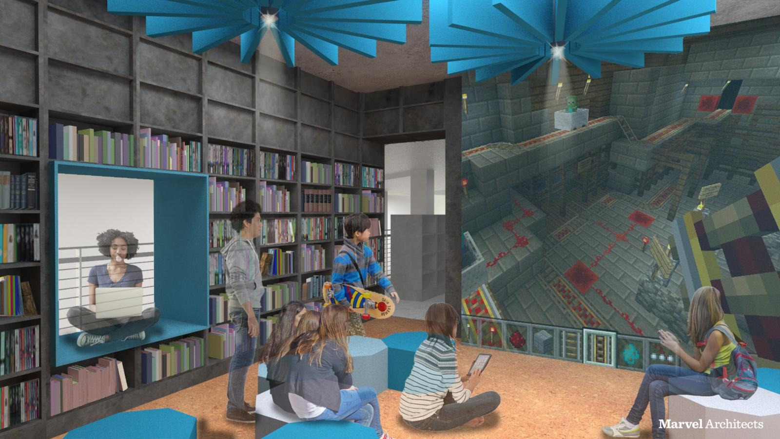 Proposed Design of Brooklyn Heights Library Teen's Area