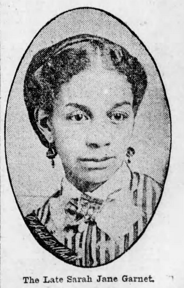portrait of Sarah J Smith Garnet in the Brooklyn Daily Eagle