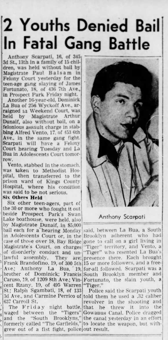 Anthony Scarpati of the South Brooklyn Boys - Brooklyn Daily Eagle, May 14, 1950