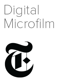 Logo image for New York Times Digital Microfilm