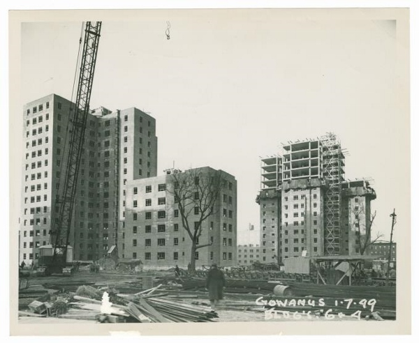 Photograph of the Gowanus Houses under construction