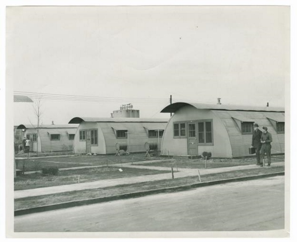 Photograph of quonset huts in Canarsie