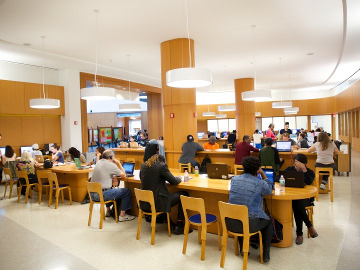 A view of the main workspace in the Info Commons