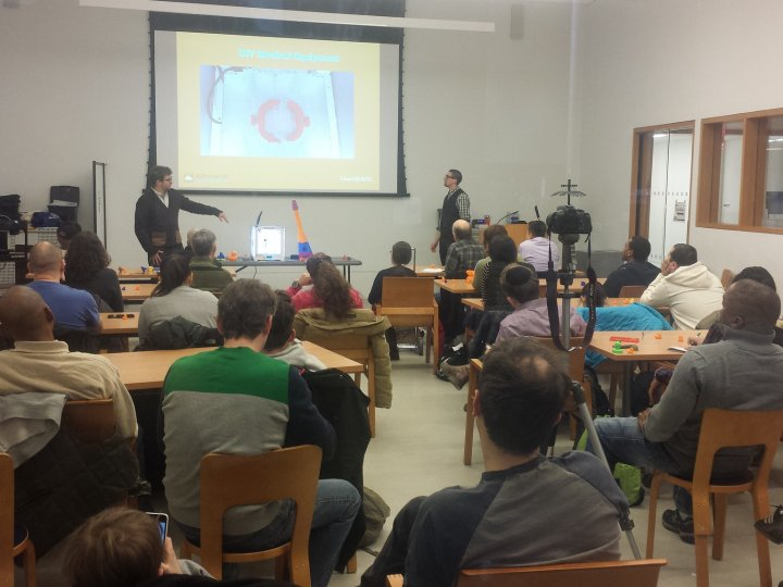A 3D printing information session in the Info Commons Lab