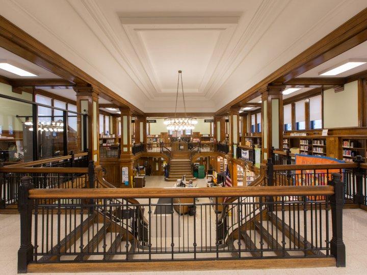 Interior of Arlington Library
