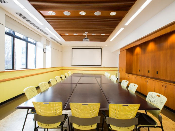 The interior of the Balcony Conference Room at Central Library