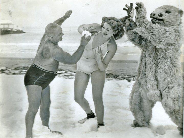 First girl admitted to Polar Bear Club at Manhattan Beach, 1941