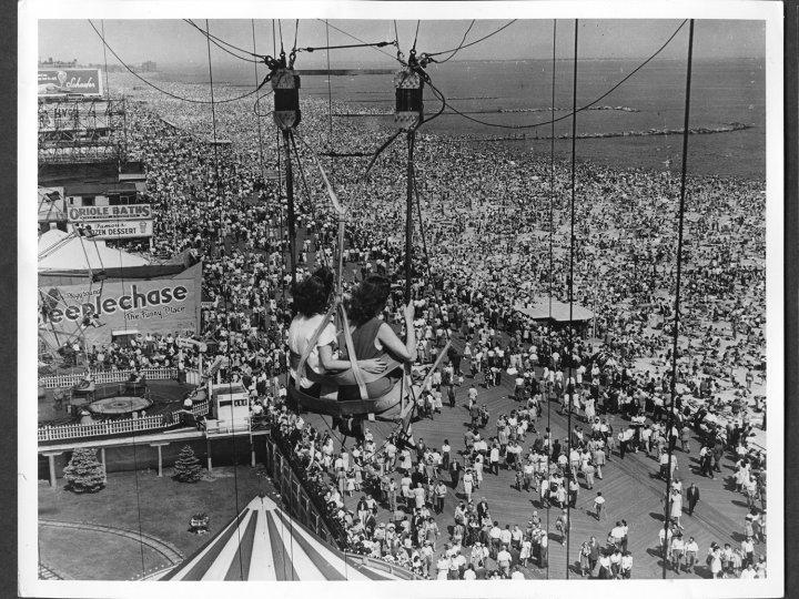 Parachute Jump at Coney Island's Steeplechase Park, 1946
