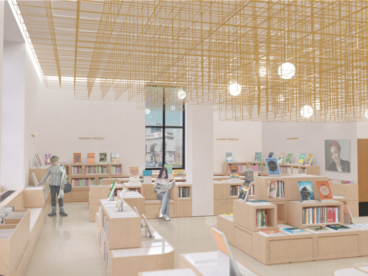 A rendering of the Popular Library at Central Library