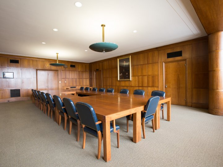 Interior of the Trustees Room at Central Library