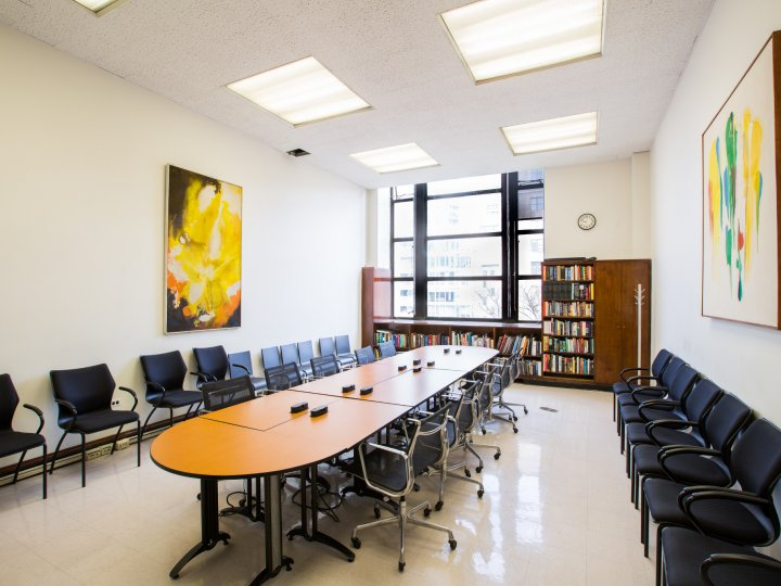 Interior of Meeting Room 214 at Central Library