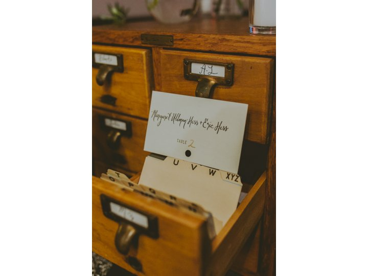 Card Catalog Seating Cards