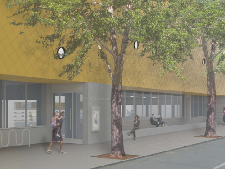 Final Design: Reading Terrace and Library Entrance (Looking North)