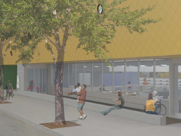 Final Design: Reading Terrace and Library Entrance (Looking South)