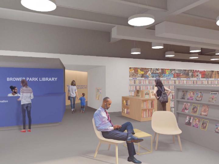 Final Design: Main Reading Room - Entrance