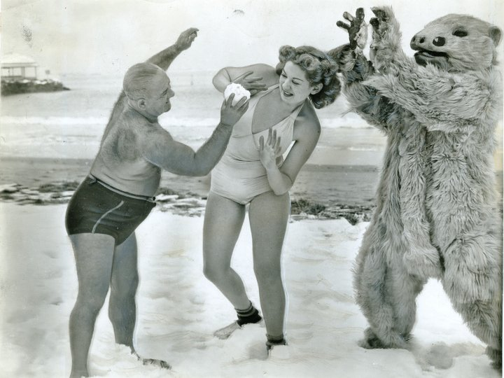 First girl admitted to Polar Bear Club at Manhattan Beach, 1941