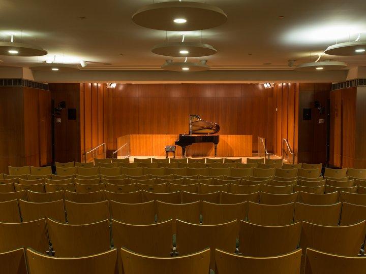 Interior of the Dweck auditorium
